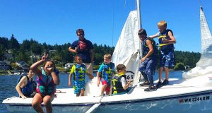 sailing camp with Guppies
